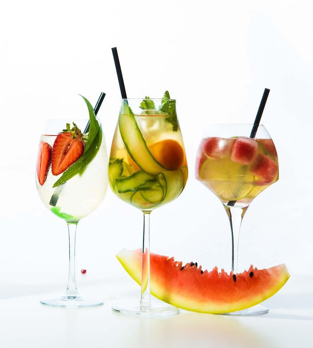 putojančio vyno kokteilis su agurkais, Alfo Ivanausko receptas