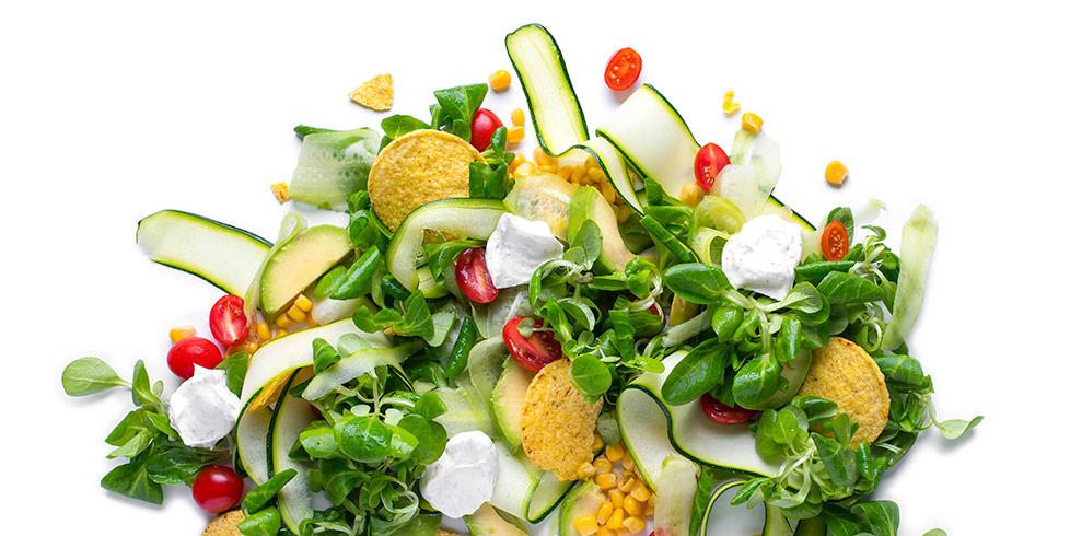 Kukurūzų salotos su jogurtiniu padažu, vmg receptas