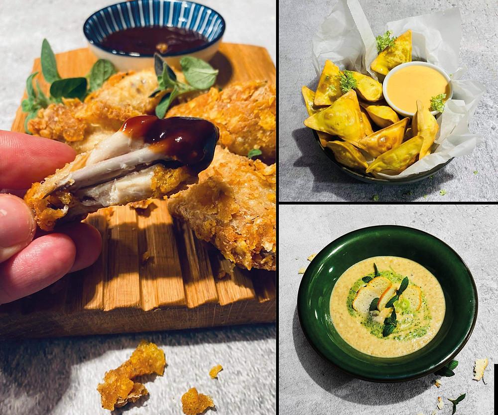 Alfas vienas namuose, receptai, sparneliai, grybų sriuba