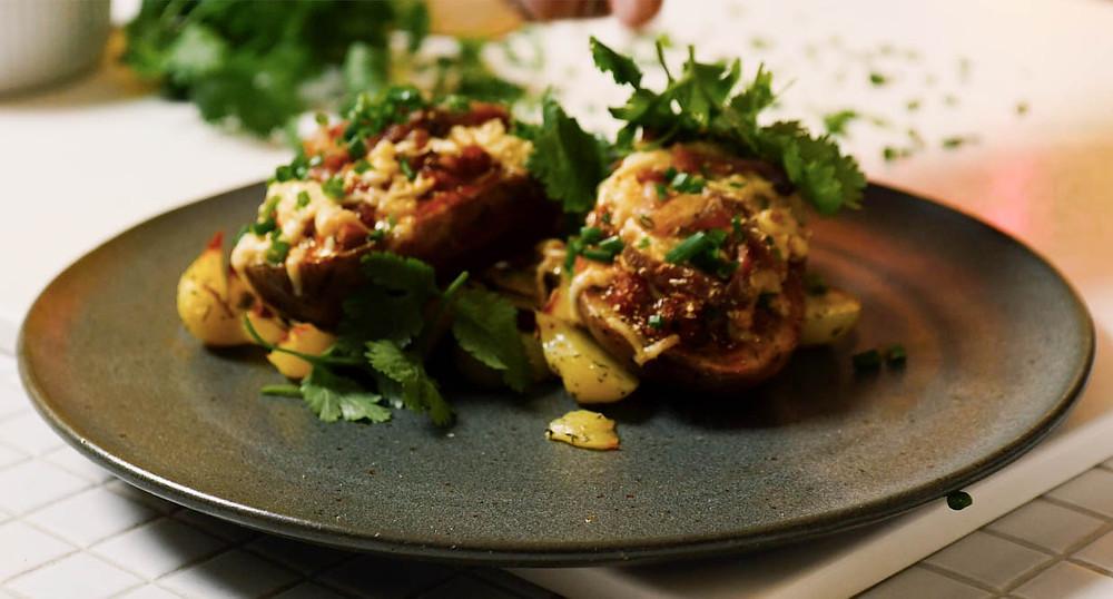 Įdarytos bulvės, vmg receptas
