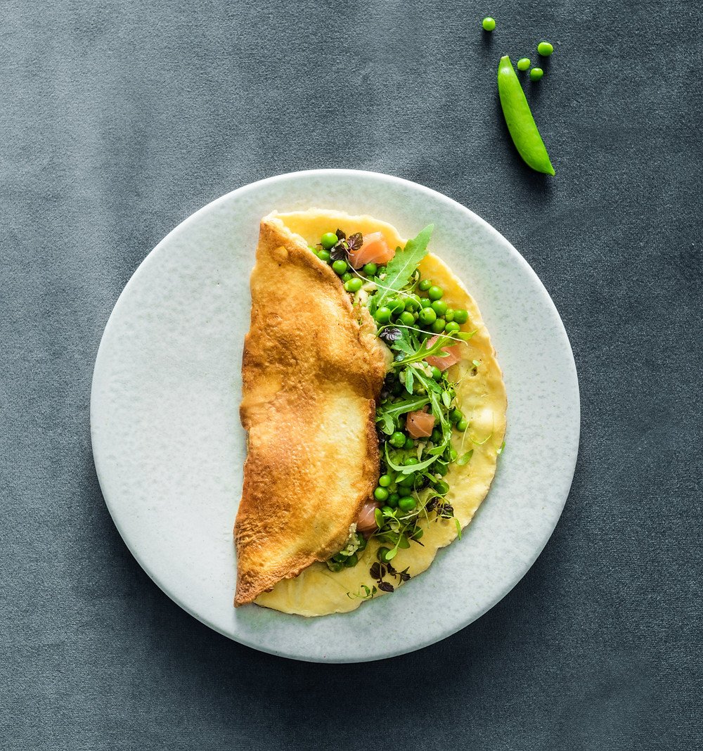 omletas su lašiša, Alfo receptas