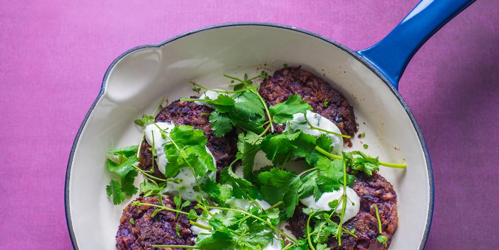 Bulvių ir raudongūžių kopūstų maltinukai indišku stiliumi, vmg receptas