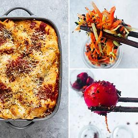 ALFAS VIENAS NAMUOSE receptai: greita lazanija be lakštų, traškios morkų salotos, BBQ ridikėliai