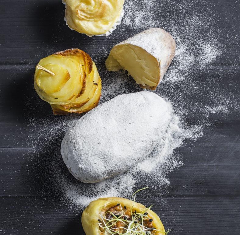 orkaiteje keptos bulvės su marškinėliais, Alfo receptas,