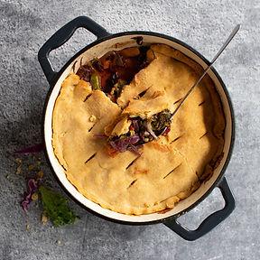 Daržovių pyragas su trumais (Receptas)