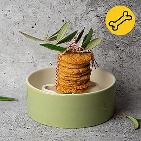 Sveiki naminiai sausainiai šunims su kokosų ir migdolų miltais (receptas)