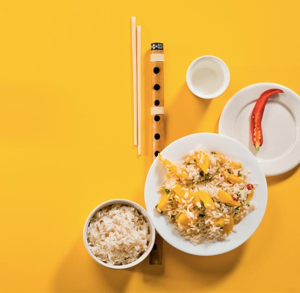 Ryžiai su mangais ir kalendromis, vmg receptas