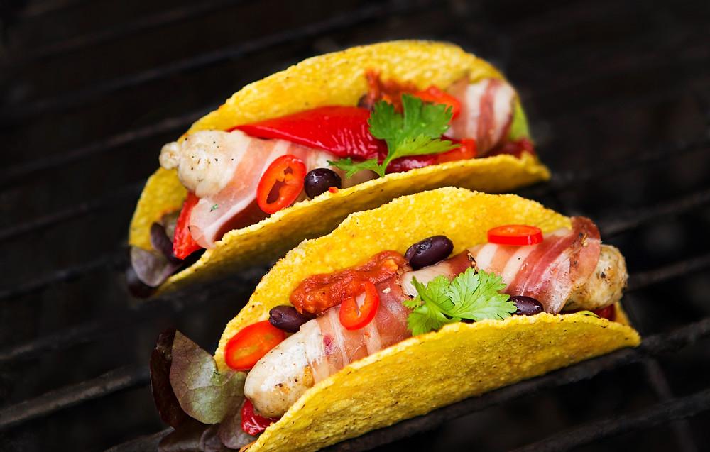 Mini taco dešrainiai su pančeta, vmg receptas