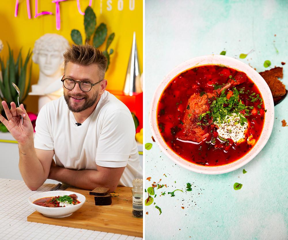 Burokėlių sriuba, Alfo receptas