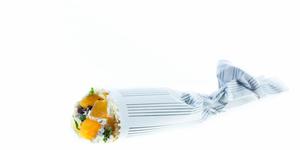 Lietiniai blynai su rikota ir mangu, vmg receptas