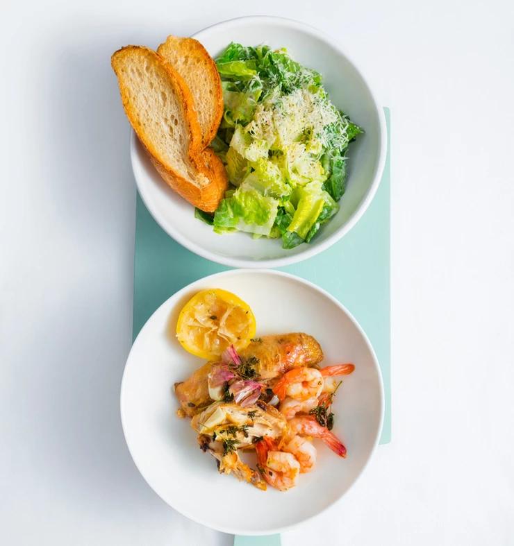 cezario salotos su krevetėmis, Alfo Ivanausko receptas