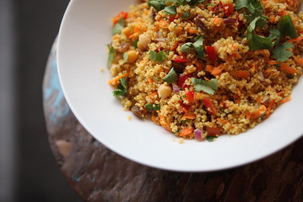 "Kuskuso salotos pagal ""ZATAR falafel & hummus"", vmg receptas"