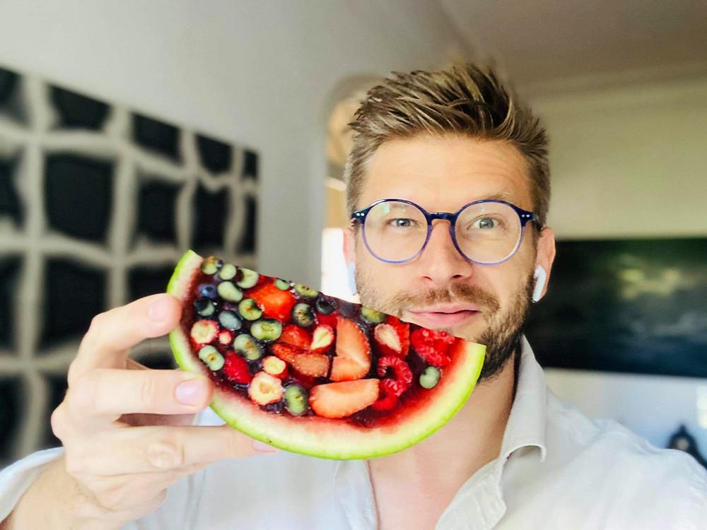 Alfo Ivanausko receptas, želė arbūze