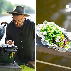 ALFAS VIENAS GAMTOJE receptas: grill baklažanas – tikra iškylos žvaigždė