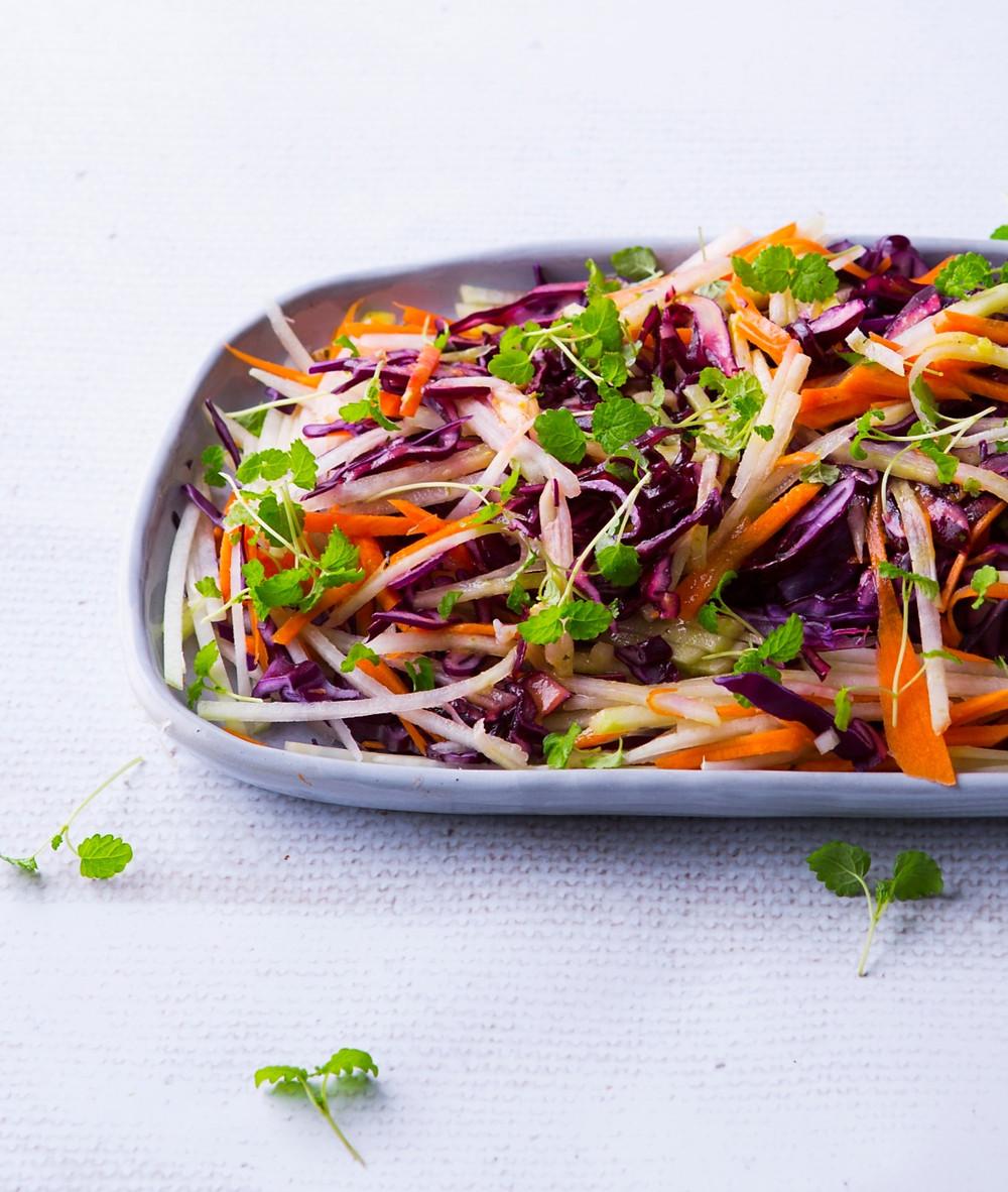 traškios šakniavaisių salotos, Alfo receptas