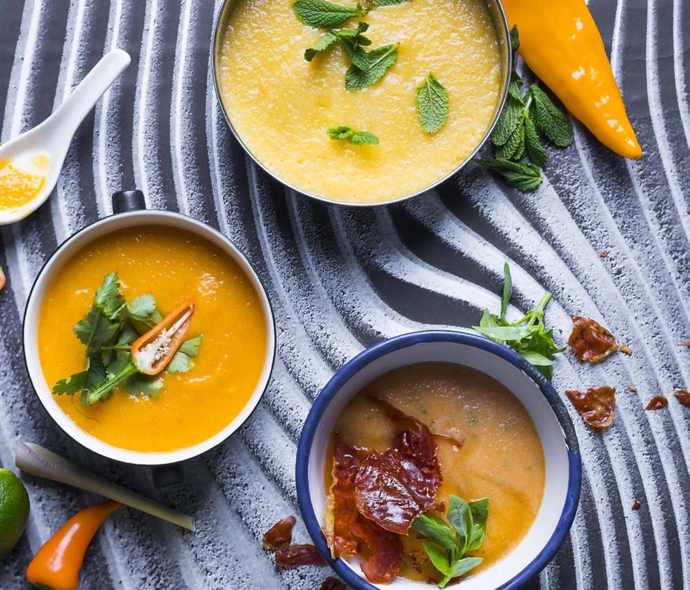 šata sriuba, gaspačas, melionų gaspačas, Alfo receptai, vmg receptai