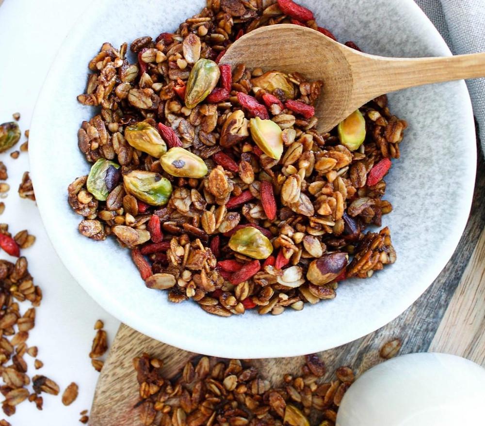 granola, receptas