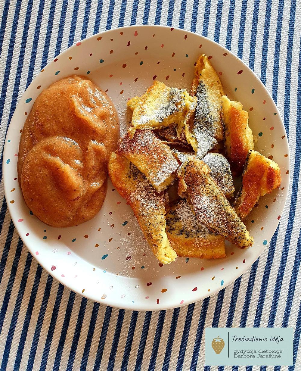 austriškas plėšytas omletas, vmgonline receptas, Barbora Jarašūnė