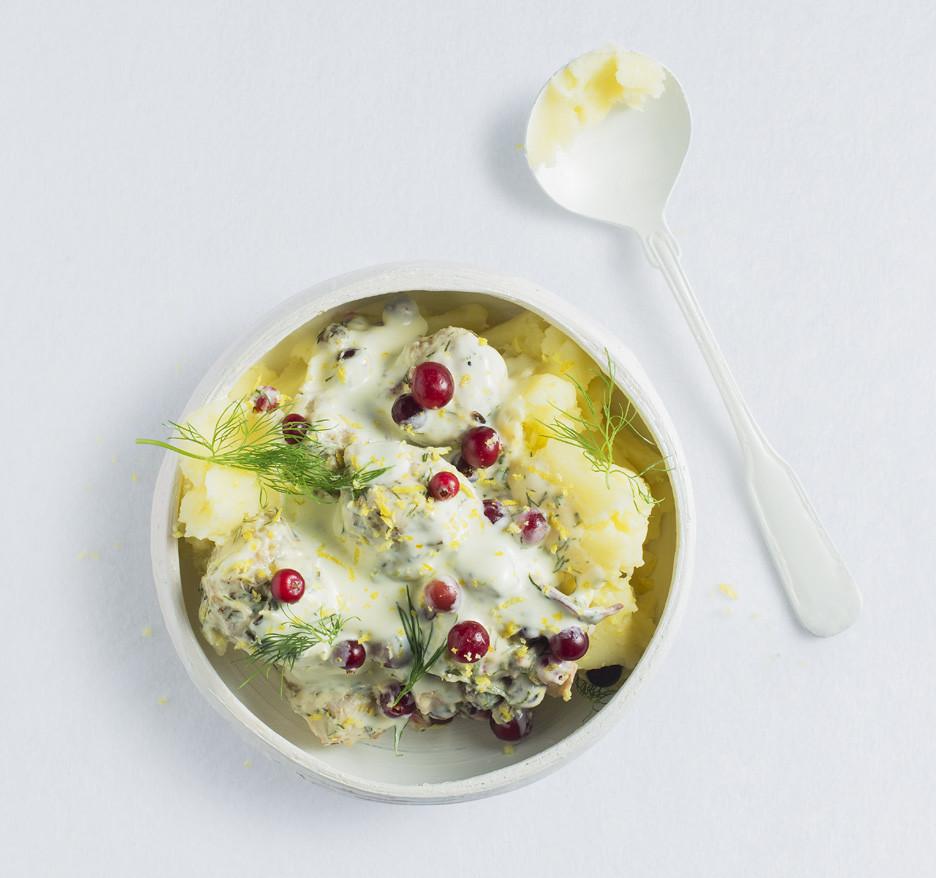 Švediški kukuliai, bulvių košė, mėsos kukuliai, Alfo receptai