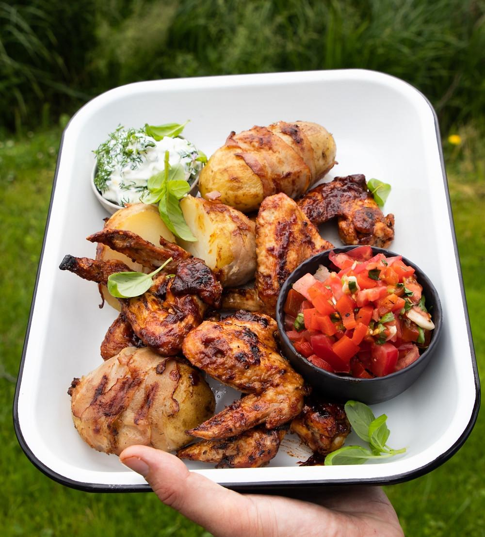 vištienos sparneliai, grilio patiekalai, Alfo receptai, vištiena