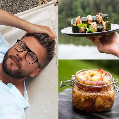 VIENAS GAMTOJE receptai: žuvies iešmeliai su cukinijomis ir rudeniu kvepiantis obuolių čatnis