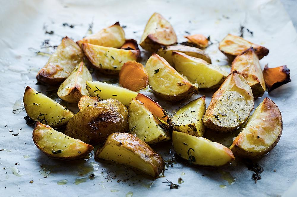 orkaitėje keptos bulvės su apelsinais, receptas