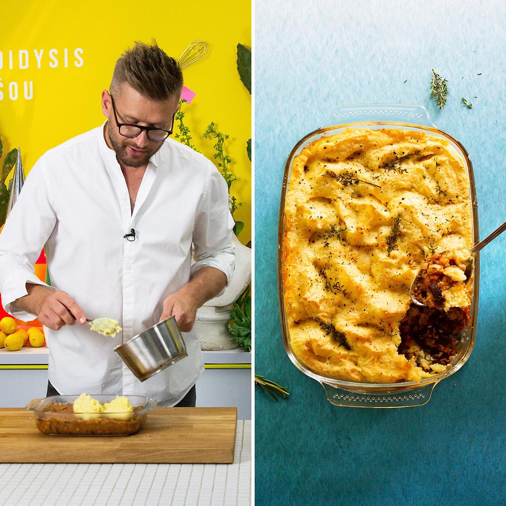 bulvių apkepas be mėsos, Alfo receptas