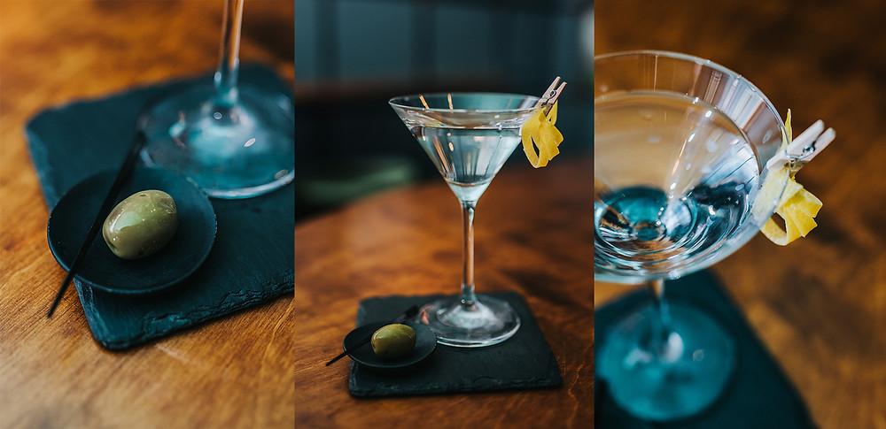 """Kokteilis """"Dry Martini"""" (Valerijos Stonytės nuotr.)"""