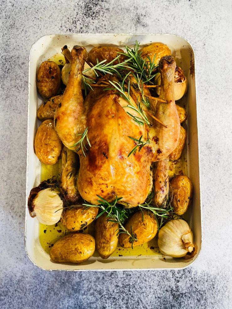įdarytas viščiukas, Alfo Ivanausko receptas