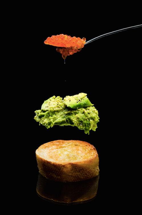 Brusketos su avokadu ir ikrais, vmg receptas