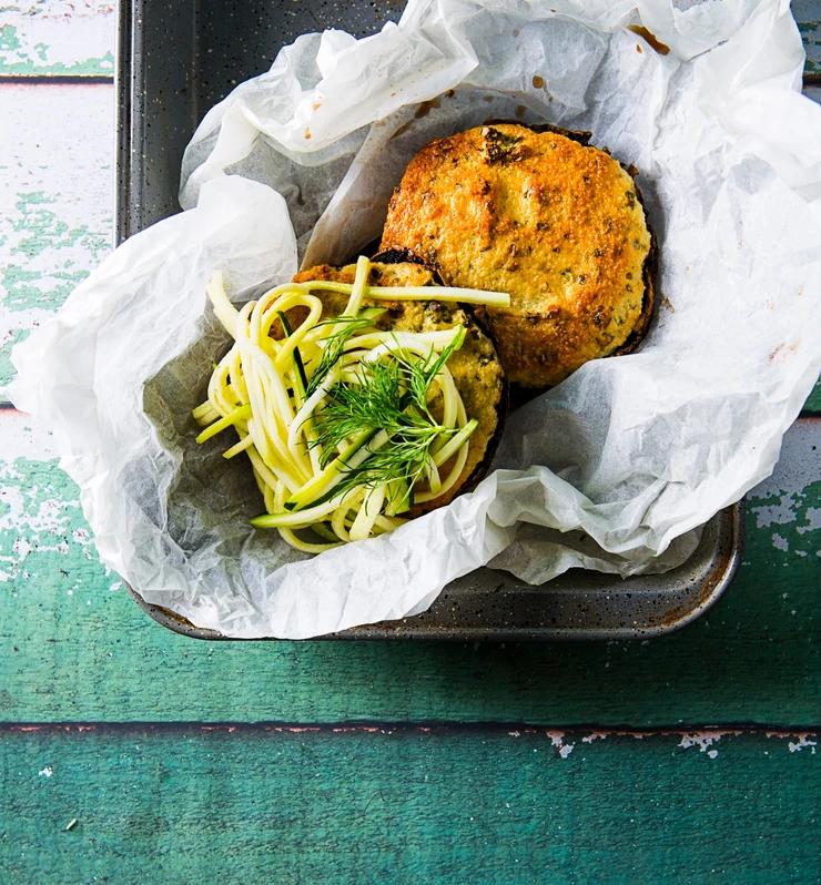 cukinijų spagečiais įdaryti pievagrybiai, vmgonline receptas