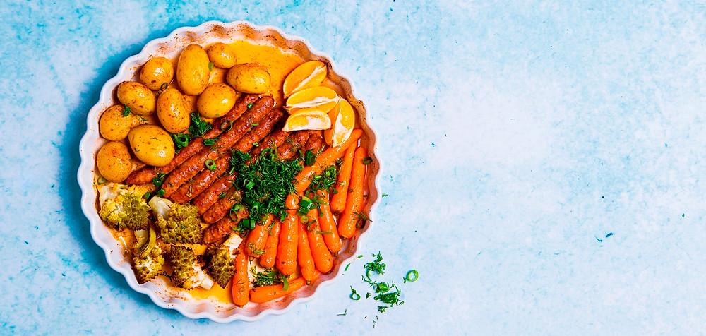 Dešrelės su daržovėmis, vmg receptas