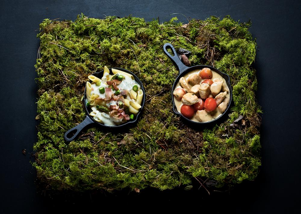 Makaronai su šonine ir šparagais, vmg receptas