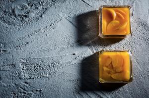 Šaltalankių želė su persikais, vmg receptas