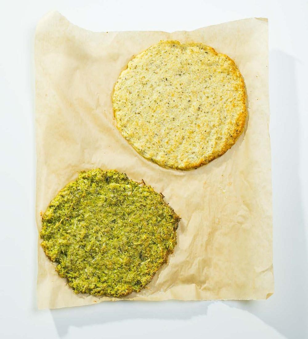 picos pagrindai iš daržovių, picos pagrindas iš brokolių. picos pagrindas iš cukinijos
