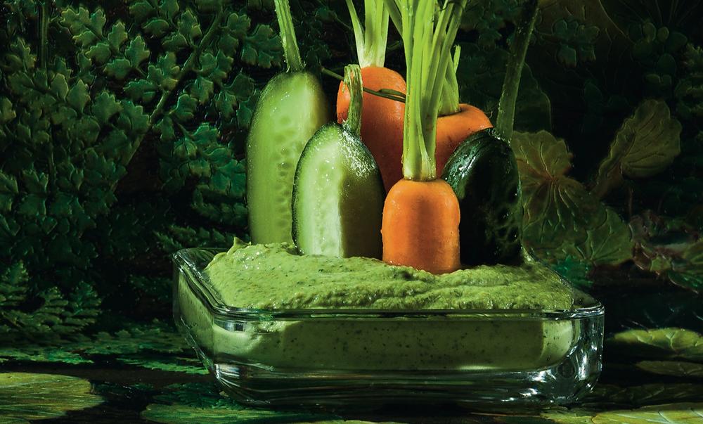 Špinatų ir fetos humusas, vmg receptas