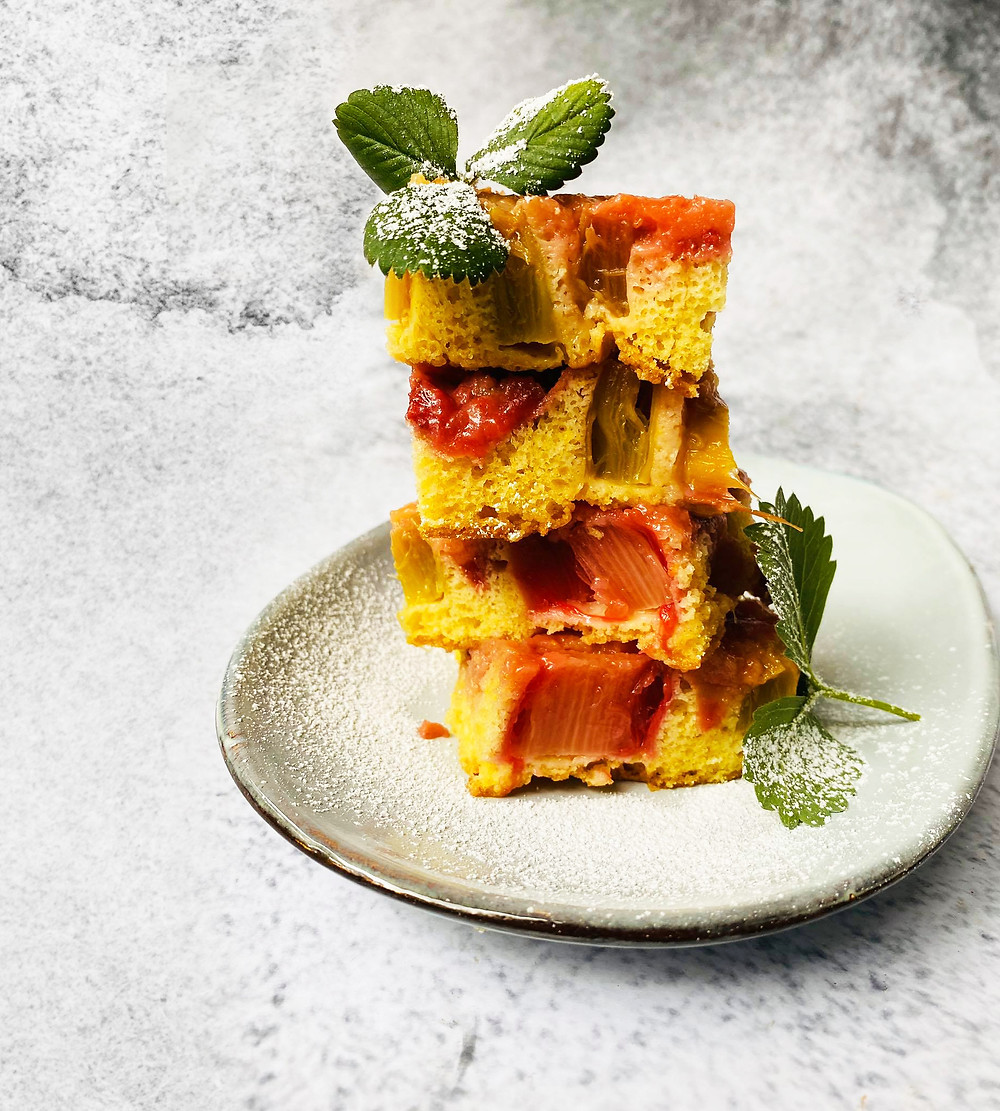 pyragas su rabarbarais, Alfo Ivanausko receptas