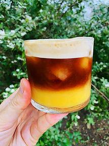 Gaivinantis kavos, apelsinų ir imbiero kokteilis (Receptas)