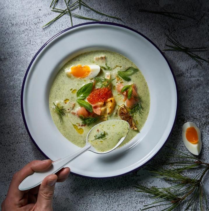 keptų cukinijų sriuba, vmgonline receptas