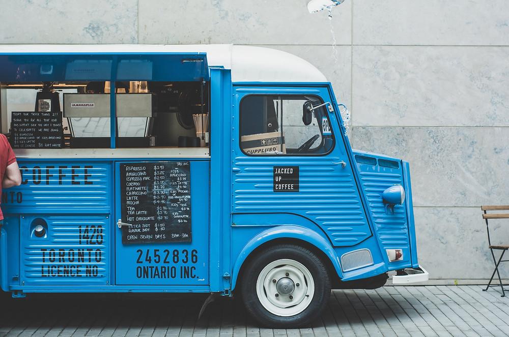 maisto furgonėlis