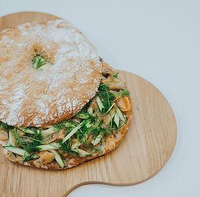 Nustebinkite tėtį: Skandinavijos įkvėptas sumuštinis su silke ir lašiša