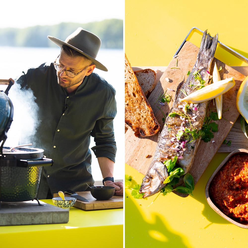 Ant grilio keptos žuvies receptas, Alfo Ivanausko receptas