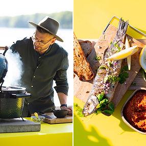 ALFAS VIENAS GAMTOJE receptas: greitai, lengvai ir skaniai ant grilio kepta žuvis su pagardais