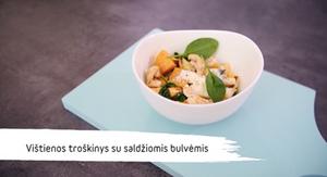 Vištienos troškinys su batatais ir obuoliais, vmg receptas