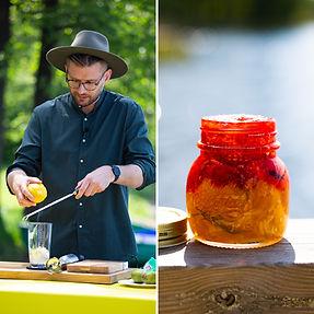 ALFAS VIENAS GAMTOJE receptas: dvisluoksnė uogienė su braškėmis ir apelsinais