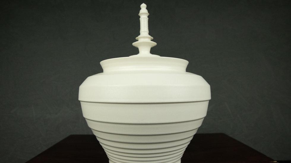 WTE001 White Porcelain urn