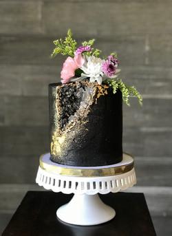 Buttercream geode cake