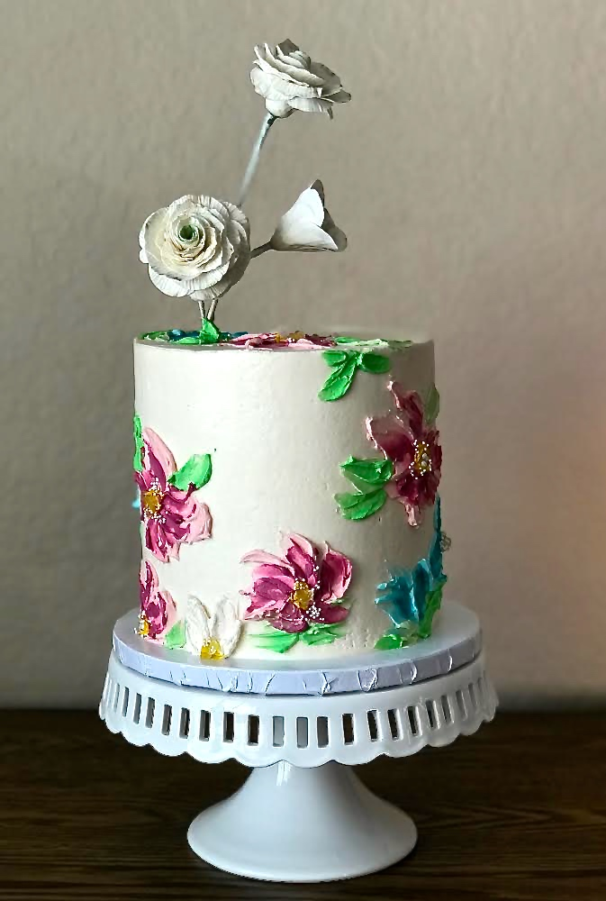 Textured Buttercream Flowers
