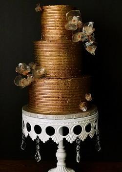 Bronzed Buttercream Cake