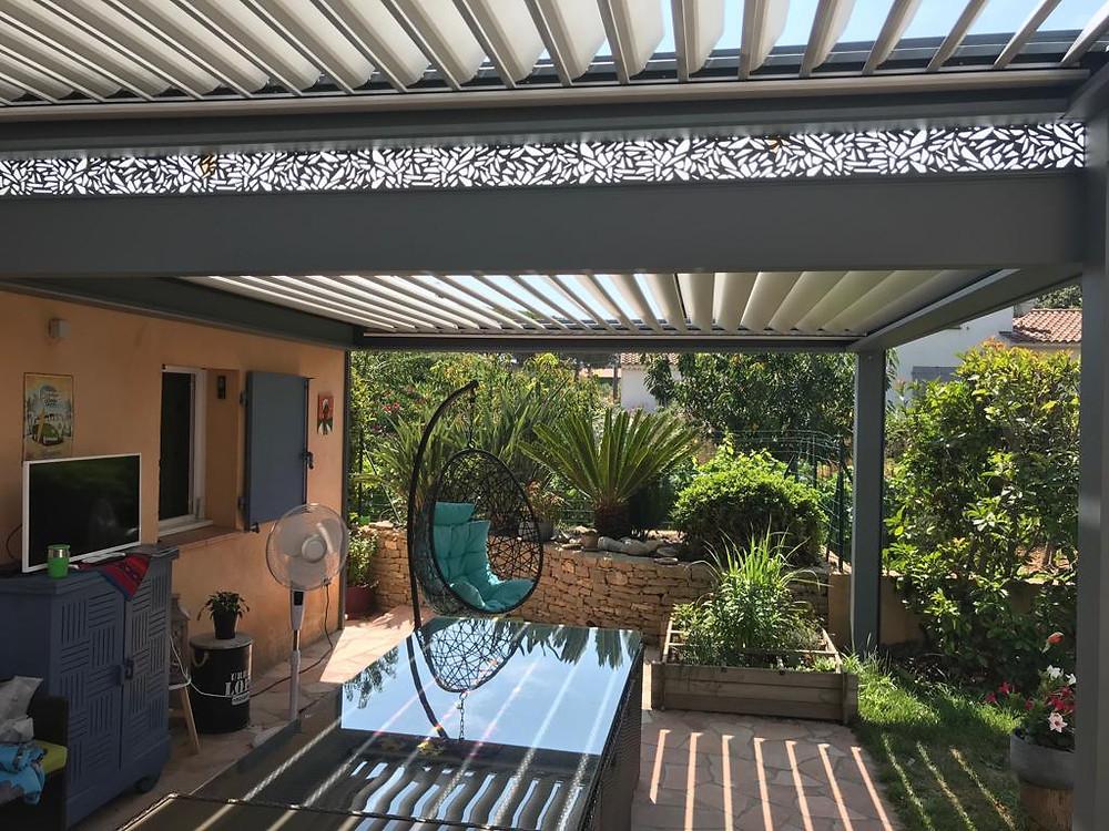pergola bioclimatique aluminium Solembra